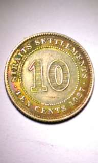 Coin 1927 10 cents straits settlement