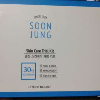 Etude Soon Jung Skin Care (trial kit)
