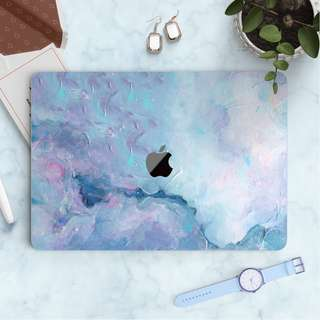 Abstract Purple Blue Dissolved Macbook Vinyl Decal