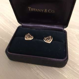 Tiffany & co ear rings rose gold