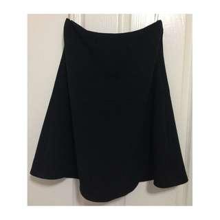 Forcast Women's Black Kenna A Line Skirt with Back Zipper Stretch Fit [AU10]