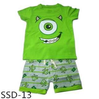 Monster Inc t-shirt with shorts set