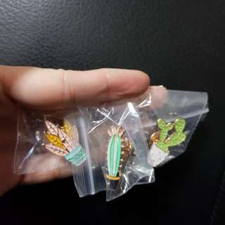Cactus brooches (1set)