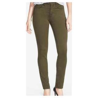 Women's Khaki Denim Stretch Slimming Skinny Leg Jeans [AU10]