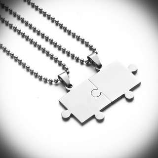 Jigsaw Puzzle Couple Necklaces(FREE ENGRAVING)