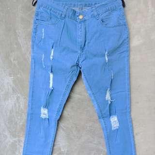 Celana jeans (color blue jeans)