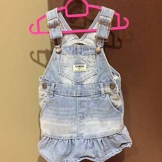 Oshkosh overall dress 12 M