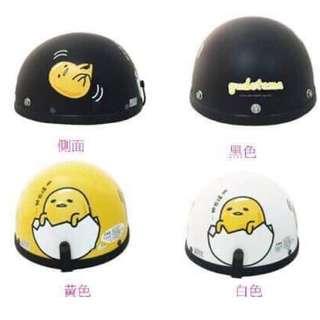 🚚 三麗鷗GUDETAMA蛋黃哥卡通復古帽 碗公帽 安全帽 瓜皮帽