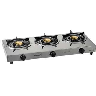 Butterfly Triple gas stove BGC-3012