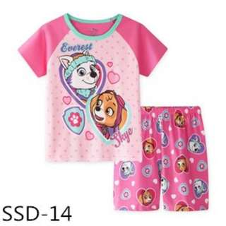 Paw patrol girls t-shirt with shorts set