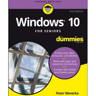 Windows 10 For Seniors For Dummies 2nd Edition eBook
