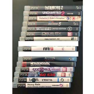 PLAYSTATION 3 - GAMES BUNDLE (16 GAMES)