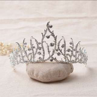 Wedding bridal princess crown crystal headband mahkota