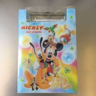 [BN] Mickey Mouse Writing Pad Clipboard Folder