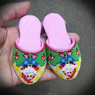Peranakan Mini Potong Manek Shoes Face