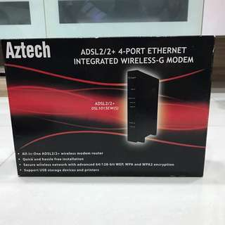 Aztech Wireless-G Modem with Cable