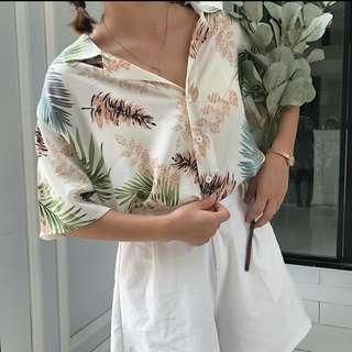 [PO] #4 Ulzzang leafy blouse