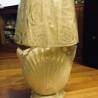 八成新 枱燈 lamp 令面硯殼
