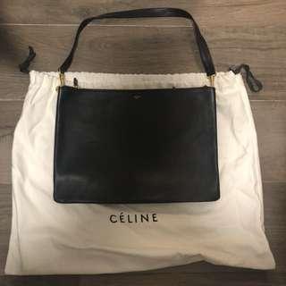 Celine 3 Flap Leather Bag (trio)