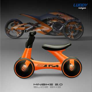 2018 ADVANCE LUDDY MINIBIKE Balance Bike Sliding Bike Walker - ORANGE