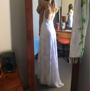 white lace ball dress