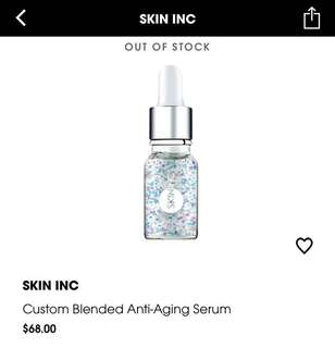 (Clear stock -50%) skininc anti Aging serum