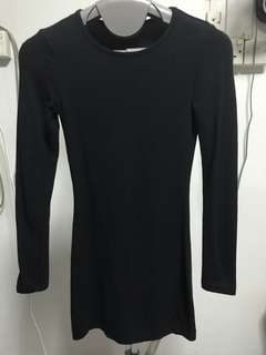 Supre black long sleeve dress
