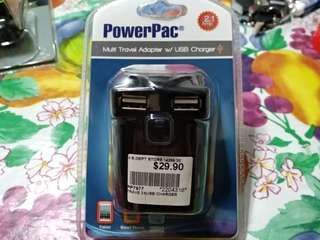 Powerpack multi travel w/USB  charger