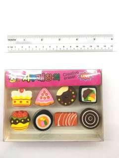 Cute mini erasers