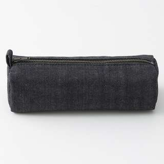 Muji denim square pen case