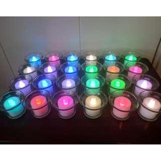 $200 兩盒電子蠟燭 + 10排後備電,  浪漫到極