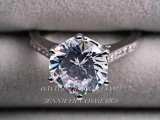 4.00 Carat Cultured Diamond Ring - 4卡戒指人造鑽石300款八心八箭南非人造鑽石戒指頸鏈吊咀合成鑽石手鏈鑽石耳環鑽石手鐲婚戒仿鑽飾