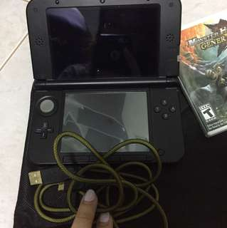 Nintendo 3DS XL BLACK EDITION + MH Generations