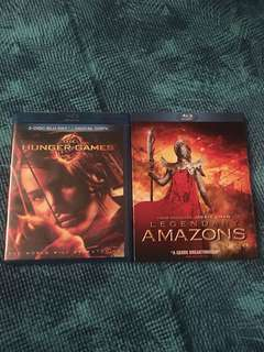 The Hunger Games/Legendary Amazons, blu ray, 2 films