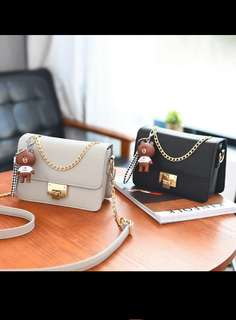 Classic & Elegant Black Bag (with the bear)
