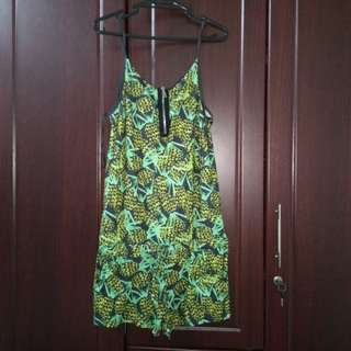 Pineapple printed jumpshort