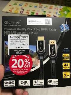 Silvertec premium hdmi cable