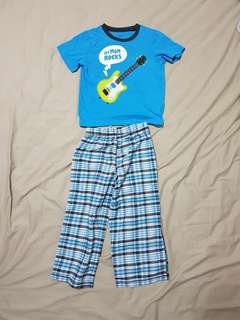 Kid's 5T Carter's Blue 2 Pieces Pyjamas, Kid's Clothes