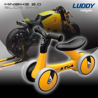 2018 ADVANCE LUDDY MINIBIKE Balance Bike Sliding Bike Walker - YELLOW