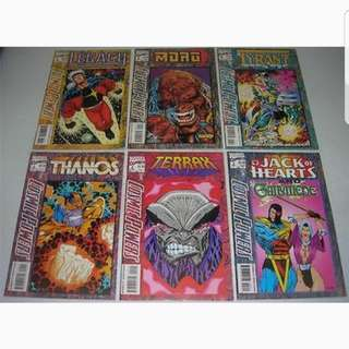 Marvel Comics Thanos vs. Tyrant Cosmic Powers Dc Comics