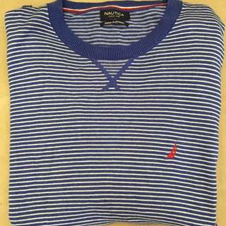 VINTAGE Nautica Blue Striped Sweatshirt
