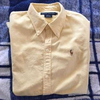 Ralph Lauren Yellow Long Sleeve Button Up