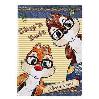chip n dale 鋼牙大鼻 2018日記 手帳 行程 月暦 schedule book