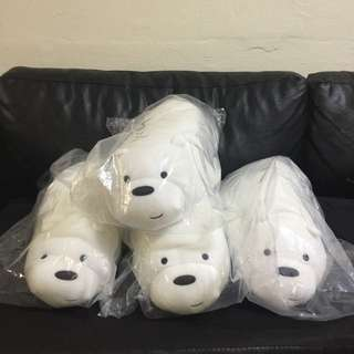 Miniso We Bare Bears Ice Bear Lying Flat Plush