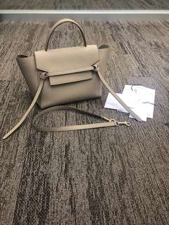 Celine Mini Belt in Taupe