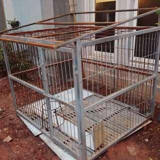 Kandang doggie uk besar  reprice  ukuran 150x120x110