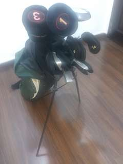 Ping Zing 2 set with steel shaft and Callaway Great Bertha Drivers and putter