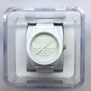 Adidas Originals 'Santiago XL' Silicone Strap Watch White