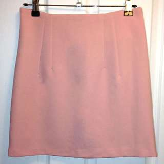 Women's Korean Pastel Pink A Pencil Skirt with Slimming Stretch Fit [AU10]