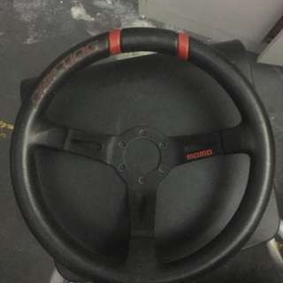 Original momo steering wheel with bosskit for Nv200